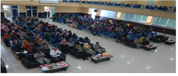 HMPS Universitas PGRI Palembang Lakukan Seminar Anti Korupsi