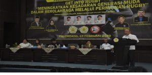 Pelatih dan Atlet Rugby Asal Jepang Beri Kuliah Umum di Universitas PGRI Palembang