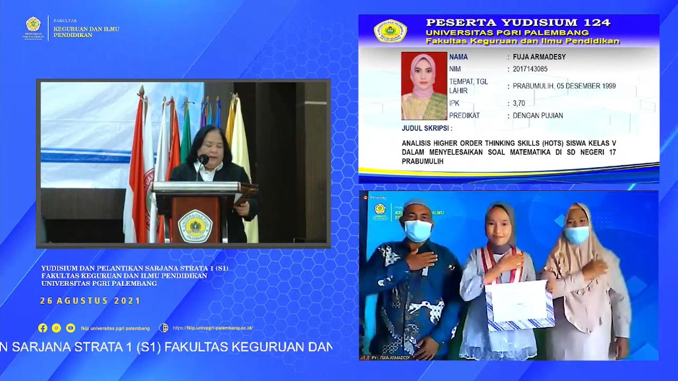 Yudisium Virtual Periode III FKIP Universitas PGRI Palembang