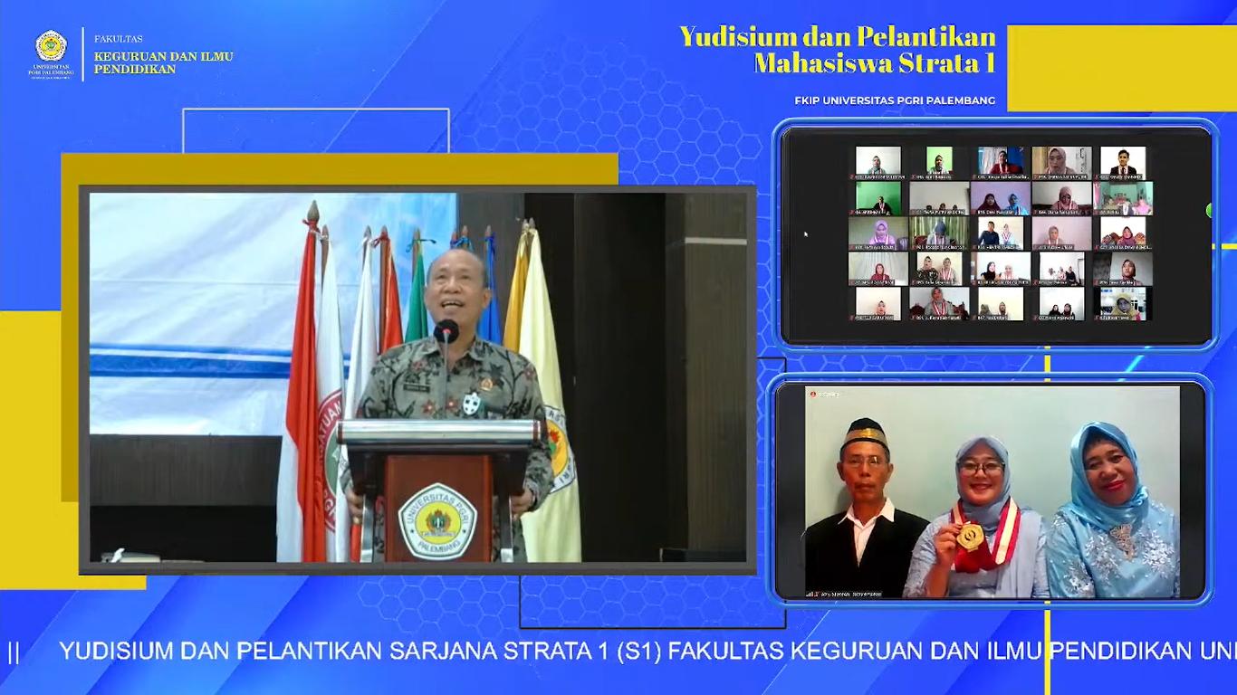FKIP Universitas PGRI Palembang Selenggarakan Yudisium Virtual Periode IV